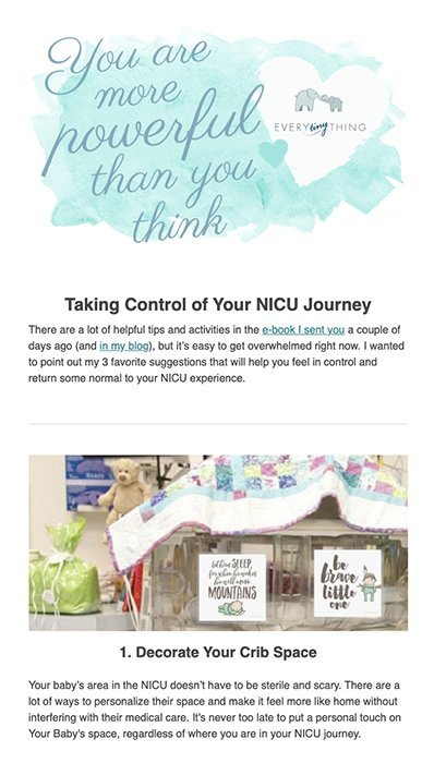 Encouragement Email for New Baby
