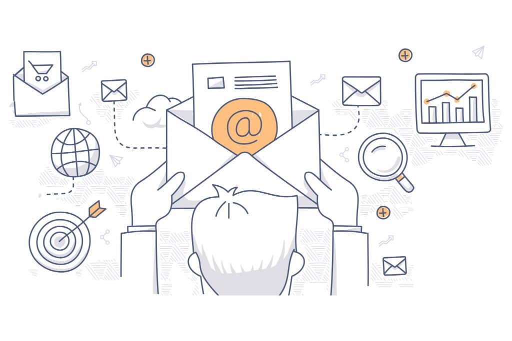 email marketing metrics illustration