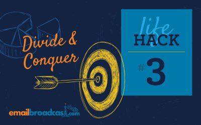 Life Hacks: #3 Divide & Conquer