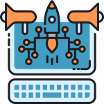 icon of rocket and megaphones representing special occasions in mailchimp email automation