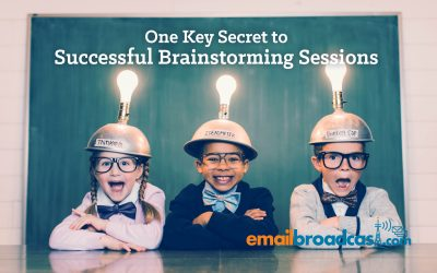 One Key Secret to Successful Brainstorming Sessions